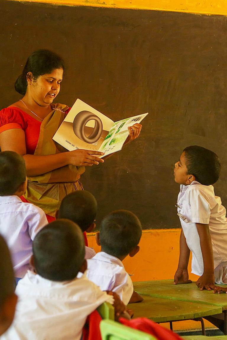 Room to Readの支援先の一つ、スリランカの様子